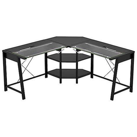 bed bath and beyond desk l z line designs vance l desk in black bed bath beyond