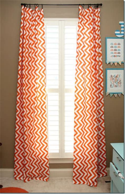 Orange And White Curtains Orange And Blue Baby Car Nursery Theme