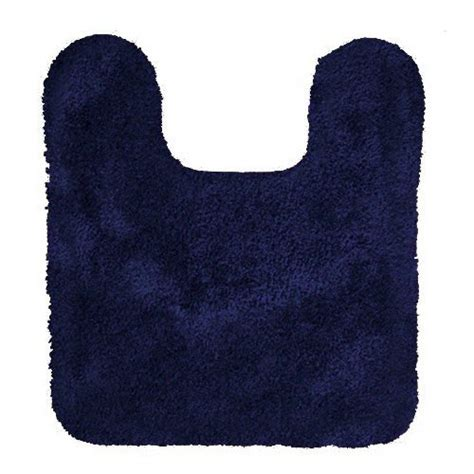 navy bath rug royale navy plush contour bath rug 042694215216 toolfanatic