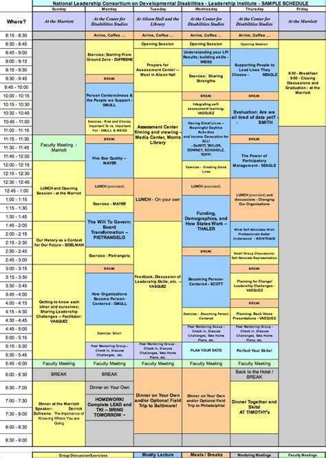 Of Delaware Mba Course Schedule by National Leadership Consortium Sle Schedule
