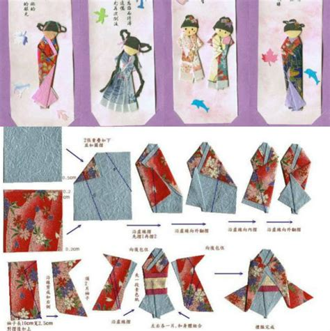 Origami Paper Dolls - classic japanese paper doll origami diys crafts and