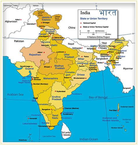 india map with cities india map of india s states and union territories