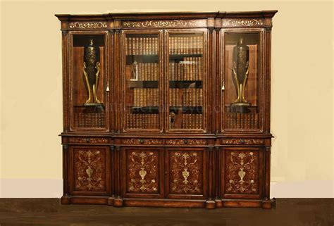 Mahogany China Cabinet by Mahogany China Cabinet Breakfront With Of Pearl Inlay