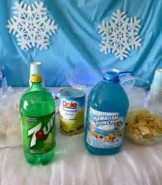 blue punch with snow recipe punches