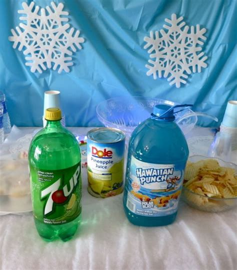 Blue Punch Recipes For Baby Shower by Blue Punch With Snow Recipe Punches Boys And Frozen