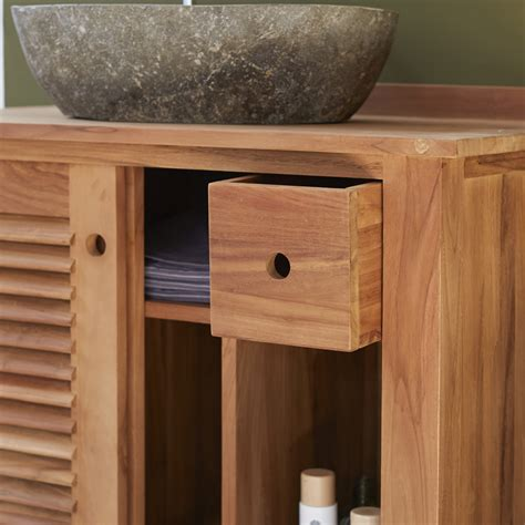 Teak Bathroom Furniture Teak Bathroom Furniture Coline Vanity Cabinet Tikamoon