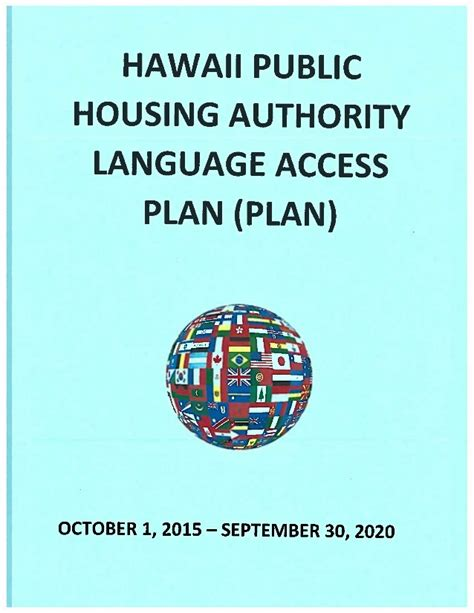 public housing authority hawaii public housing authority language access plan