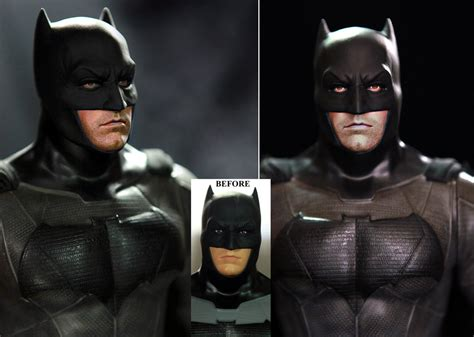Batman Arkham Custom Repaint ben affleck batman custom doll figure repaint by noeling on deviantart