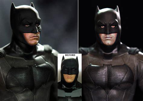 figure repaint ben affleck batman custom doll figure repaint by noeling