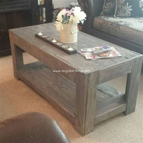 Wooden Pallet Coffee Tables Pallet Coffee Table Plans Recycled Things