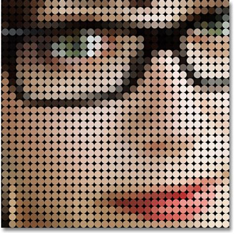 photo to colored dot pattern with photoshop
