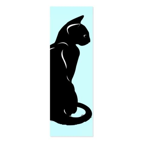 Silhouette Cards Templates by Cat Silhouette Bookmark Sided Mini Business Cards