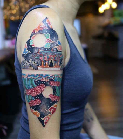 south korean tattoo korean traditional by pitta