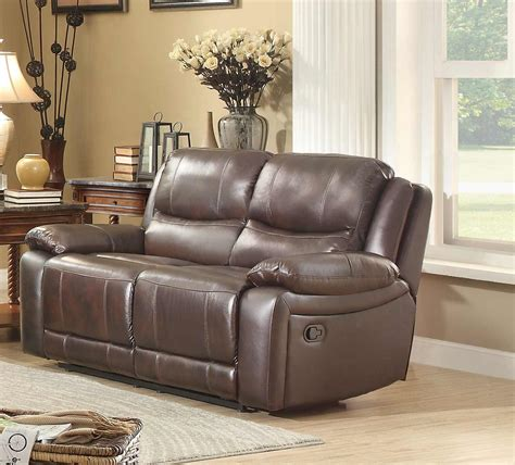 homelegance reclining sofa homelegance allenwood reclining sofa set dark brown 8429