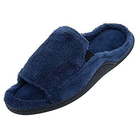 mens slippers amazon com amazon com isotoner mens navy open toe slippers xxl 13