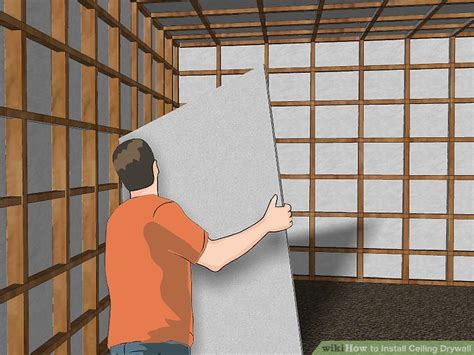 Ceiling Board Drywall by How To Install Ceiling Drywall 14 Steps With Pictures