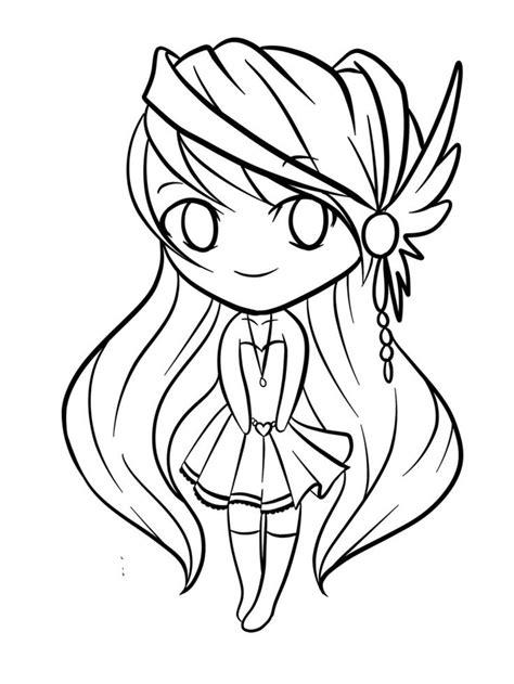chibis cute kawaii coloring page pictures to pin on