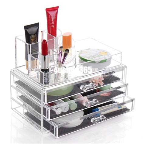 clear makeup organizer with drawers clear acrylic makeup cosmetic organizer case drawers