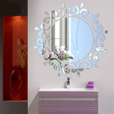 mirror wall sticker creative 3d acrylic mirror surface wall sticker fashion