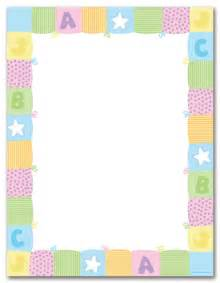 pastel baby quilt stationery letterhead baby shower stationery 16742