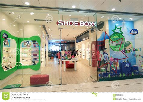 kid shoe store shoe box shop in hong kong editorial image image 36304195