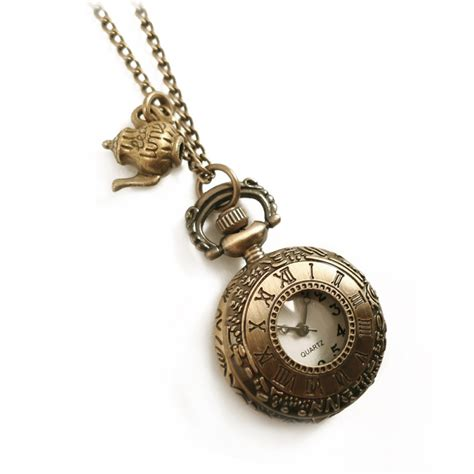 in teapot clock necklace