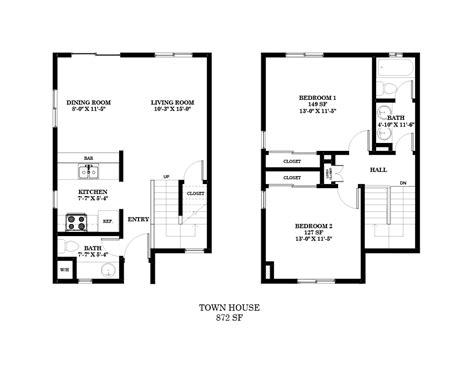 2 Story Apartment Plans by 2 Bedroom Apartment Building Floor Plans With