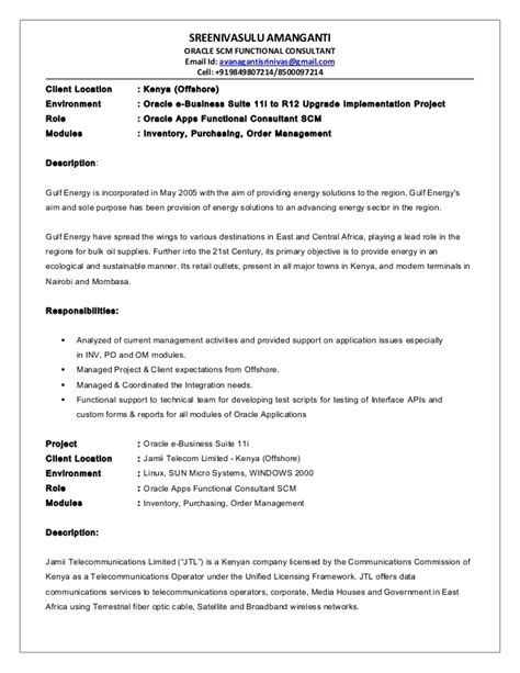 oracle scm functional consultant resume resume ideas