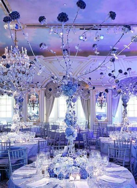 blue centerpiece shades of blue wedding centerpiece ideas crazyforus