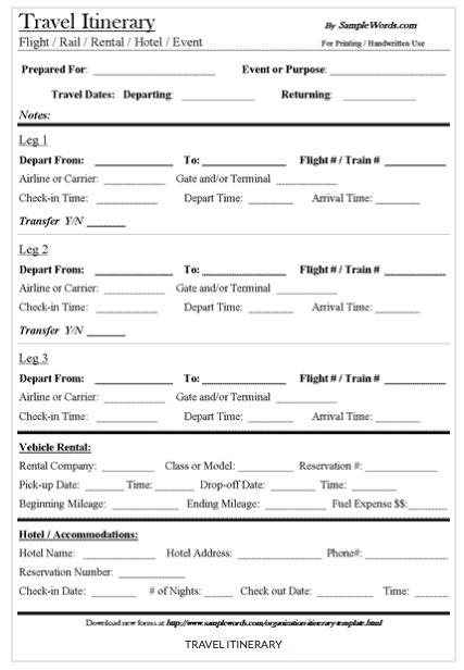free travel itinerary template 9 useful travel itinerary templates that are 100 free