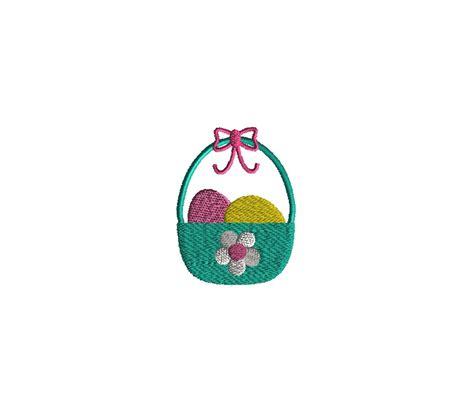 Basket Machine mini easter basket embroidery design