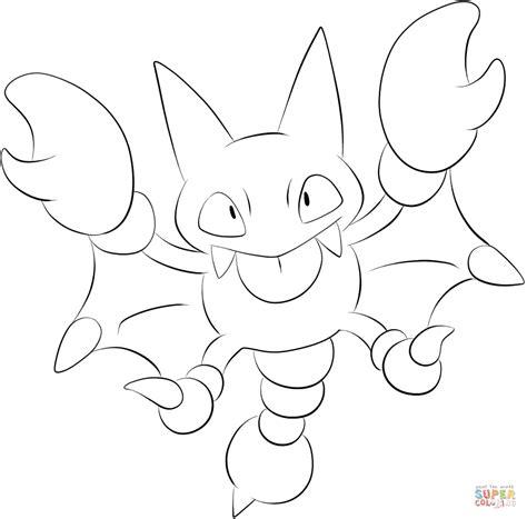pokemon indigo coloring pages gligar kleurplaat gratis kleurplaten printen