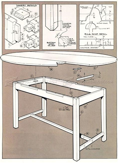 Drop Leaf Table Plans Drop Leaf Dining Table Plans Woodarchivist