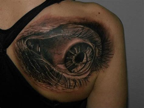 eyeball tattoo realistic shoulder realistic eye tattoo by qrucz tattoo