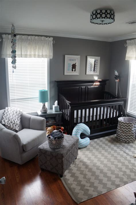 gray baby room henry s chevron nursery project nursery