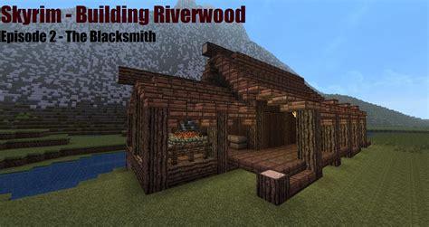 Minecraft Blacksmith Tutorial   Skyrim   Building