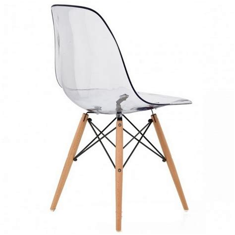 chaise design transparente lot de 4 chaises design ds assise transparente