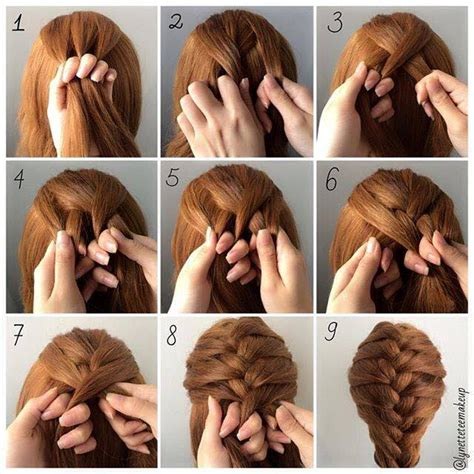 diy fashionable braid hairstyle  shoulder length hair
