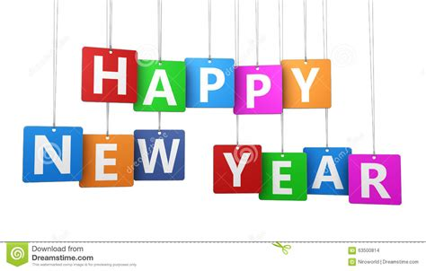 happy new year tags happy new year colorful tags stock illustration image
