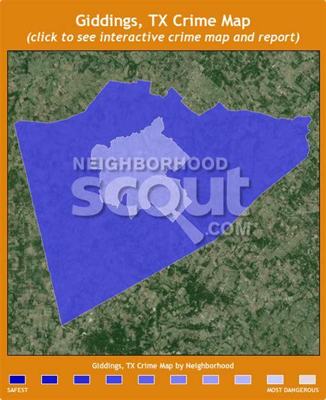 giddings texas map giddings crime rates and statistics neighborhoodscout