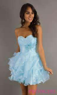 alyce strapless short prom dress party dress promgirl