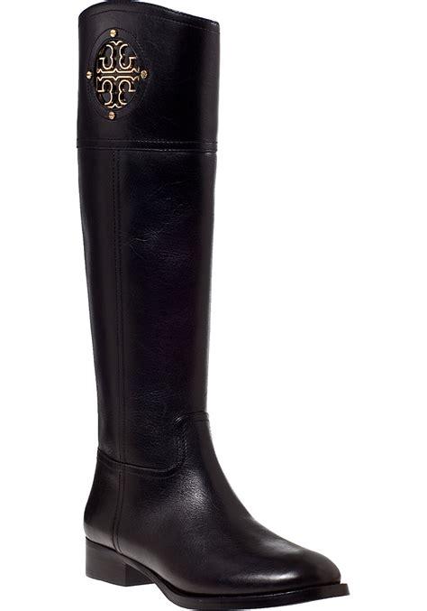 burch black boots burch kiernan boot black leather in black lyst