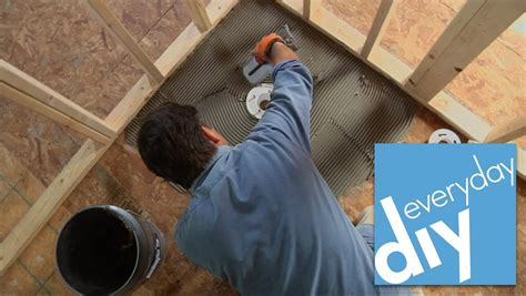 Diy Shower Base by How To Install A Tileable Shower Base Buildipedia Diy
