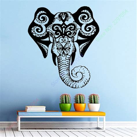 indian pattern wall stickers aliexpress com buy free shipping elephant wall decal