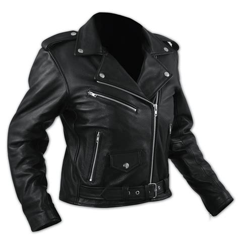 moto style jacket ladies motorcycle motorbike leather jacket marlon brando