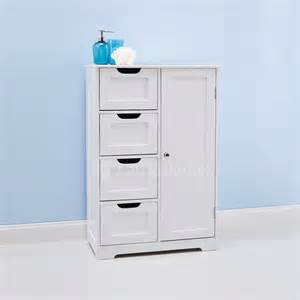 white bathroom cabinet wooden storage unit cupboard