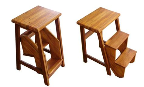 flip step stool furniture stools wood bar