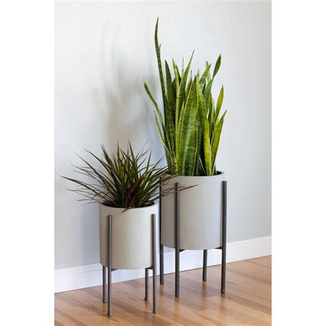 tania mid century  piece iron pot planter set reviews