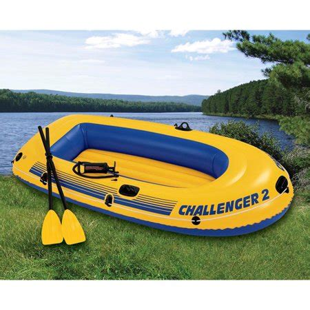 inflatable boat walmart intex 2 person challenger boat set yellow walmart