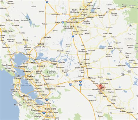 modesto california map modesto california map and modesto california satellite image